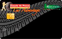 Logo Banco Cetelem Cartão Caçula de Pneus Visa