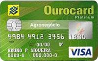 Logo Banco do Brasil Ourocard Agronegócio Platinum