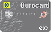 Logo Banco do Brasil Ourocard Grafite