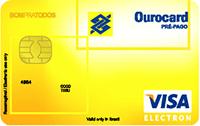 Logo Banco do Brasil Ourocard Pré-pago Recarregável