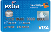 Logo Banco Itaú EXTRA Itaucard 2.0 International Visa