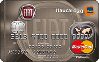 Logo Banco Itaú FIAT Itaucard 2.0 Platinum MasterCard