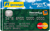 Logo Banco Itaú Ipiranga Carbono Zero 2.0 Internacional Mastercard