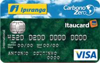 Logo Banco Itaú Ipiranga Carbono Zero 2.0 Internacional Visa