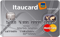 Logo Banco Itaú Itaucard Universitário | Cinza Mastercard