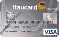 Logo Banco Itaú Itaucard Universitário   Cinza Visa