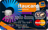 Logo Banco Itaú Itaucard Universitário | Preto Mastercard