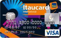 Logo Banco Itaú Itaucard Universitário   Preto Visa