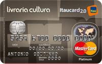 Logo Banco Itaú Livraria Cultura Itaucard 2.0 Platinum Mastercard