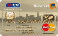 Logo Banco Itaú TIM Itaucard 2.0 Internacional Mastercard