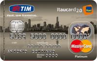 Logo Banco Itaú TIM Itaucard 2.0 Platinum Mastercard