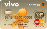 Logo Banco Itaú VIVO Itaucard 2.0 Internacional Pré Mastercard