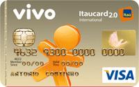 Logo Banco Itaú VIVO Itaucard 2.0 Internacional Pré Visa