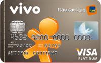 Logo Banco Itaú VIVO Itaucard 2.0 Platinum Pré Visa