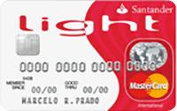 Logo Banco Santander Cartão Light Mastercard