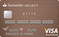 Logo Banco Santander Cartão Select Elite Platinum Visa
