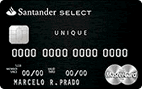 Logo Banco Santander Cartão Select Unique Black Mastercard
