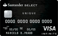 Logo Banco Santander Cartão Select Unique Black Visa