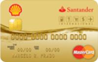 Logo Banco Santander Cartão Shell Internacional Mastercard