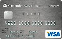 Logo Banco Santander Cartão Van Gogh Elite Platinum Visa