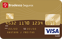 Logo Bradesco Visa Gold