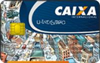 Logo Caixa Econômica Federal Cartão Caixa Universitário Internacional Visa