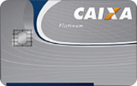 Logo Caixa Econômica Federal Cartão Platinum Visa
