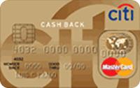 Logo Citibank Citi Cash Back Gold Mastercard