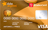 Logo Clube Angeloni BradesCard Clube Angeloni Gold Visa