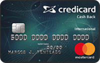 Logo Credicard Credicard Cash Back International Mastercard
