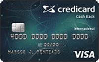 Logo Credicard Credicard Cash Back International Visa