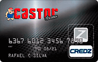 Logo Credz Cartão Castor Center