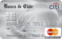 Logo Banco de Chile Travel Club Mastercard Platinum