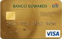 Logo Banco Edwards Travel Club Visa Dorada