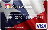 Logo Banco Estado Visa Chilena Internacional