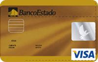 Logo Banco Estado Visa Dorada