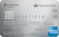 Logo Banco Santander Platinum LATAM Pass American Express