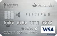 Logo Banco Santander Platinum LATAM Pass Visa