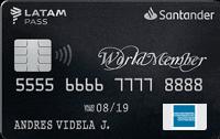 Logo Banco Santander WorldMember LATAM Pass American Express