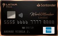 Logo Banco Santander WorldMember Limited LATAM Pass American Express