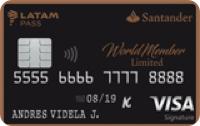 Logo Banco Santander WorldMember Limited LATAM Pass Visa Infinite