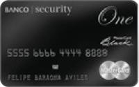 Logo Banco Security Mastercard Black One